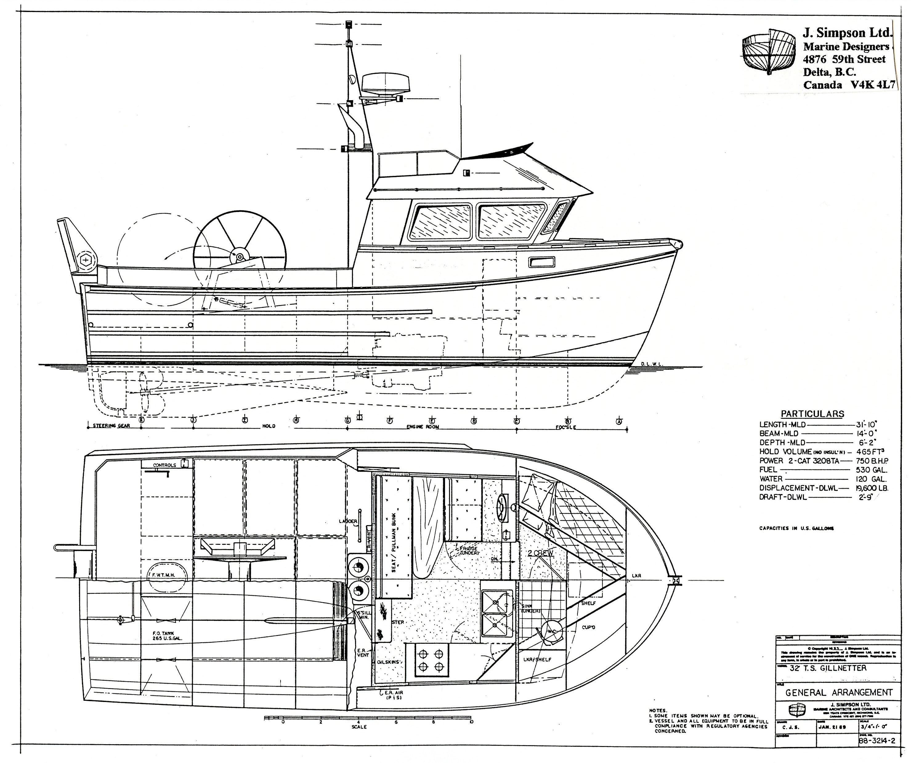 J. Simpson Ltd. Marine Designers and Consultants | 32ft ...