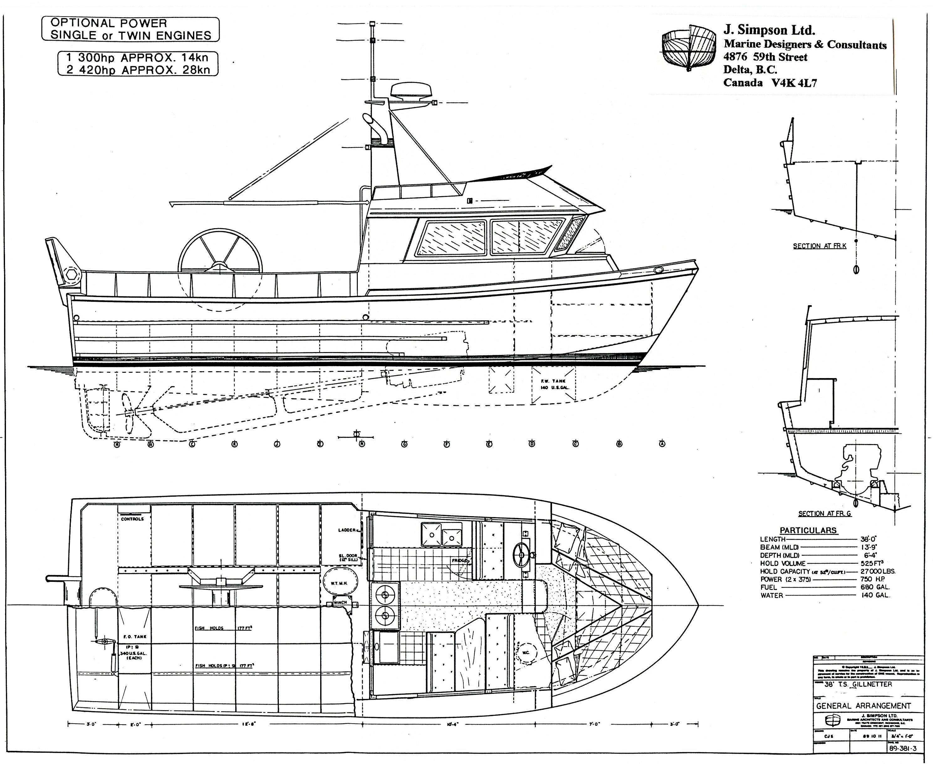 J. Simpson Ltd. Marine Designers and Consultants | 38ft Fishing Vessel